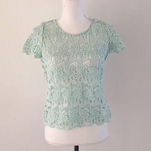 Zara lace top with open back medium